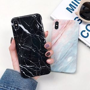 Glossy Marble Stone Shine iPhone X XR XS MAX Case